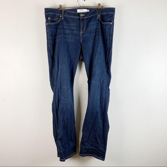 Torrid Denim Relaxed Boot Dark Wash High Rise Jean